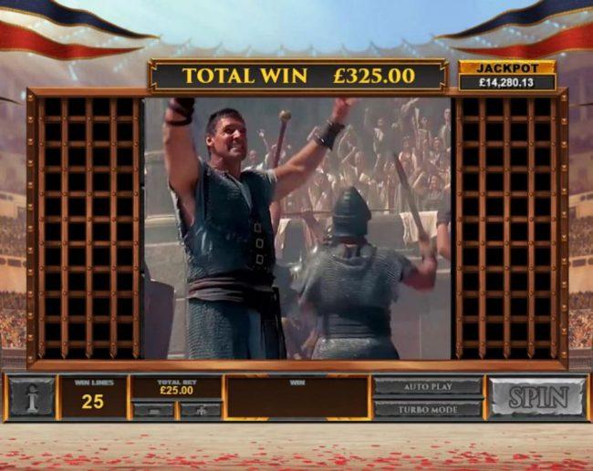 Gladiator Road to Rome :: If gladiators win, you win the bonus prize