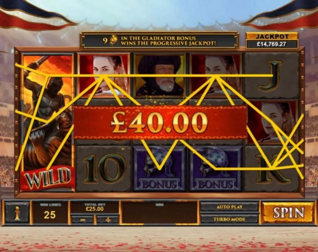 Swiss Casino featuring the Video Slots Gladiator Road to Rome with a maximum payout of $125,000