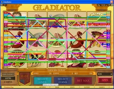 Lucky 247 featuring the Video Slots Gladiator with a maximum payout of $10,000