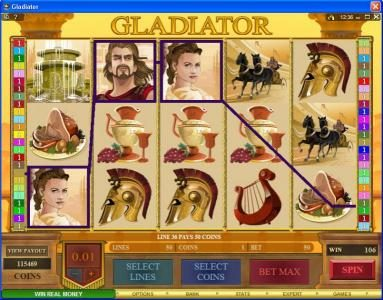 Bulldog777 featuring the Video Slots Gladiator with a maximum payout of $10,000