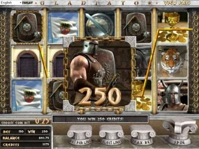 Betchain featuring the Video Slots Gladiator with a maximum payout of $2,000