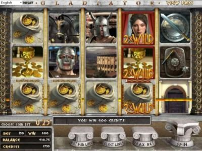 Superior featuring the Video Slots Gladiator with a maximum payout of $2,000