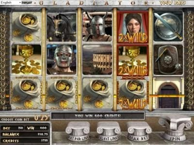 Wager Web featuring the Video Slots Gladiator with a maximum payout of $2,000