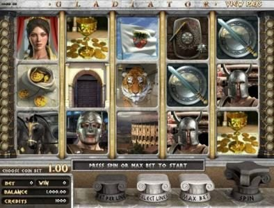 Tangiers featuring the Video Slots Gladiator with a maximum payout of $2,000