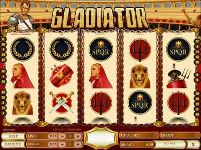 Long Harbour featuring the Video Slots Gladiator with a maximum payout of $1,000