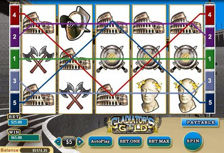 Play slots at Miami Club: Miami Club featuring the Video Slots Gladiator's Gold with a maximum payout of $10,000