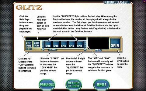 Glitz :: Quick Bet Panel