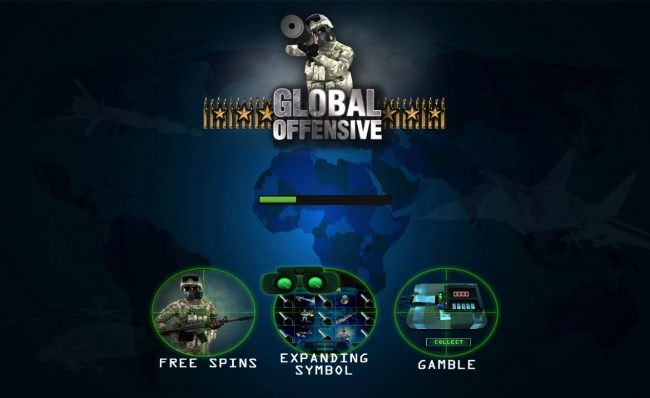 LaFiesta featuring the Video Slots Global Offensive with a maximum payout of $112,500