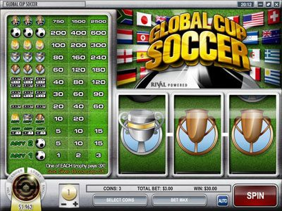 Play slots at CoCoa: CoCoa featuring the Video Slots Global Cup Soccer with a maximum payout of $75,000