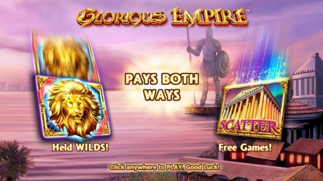 Money Reels featuring the Video Slots Glorious Empire with a maximum payout of $80,000