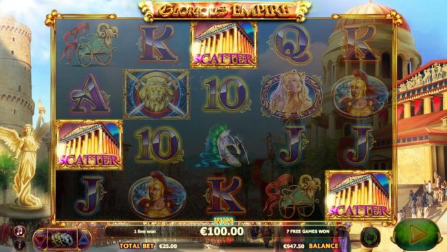Wintingo featuring the Video Slots Glorious Empire with a maximum payout of $80,000