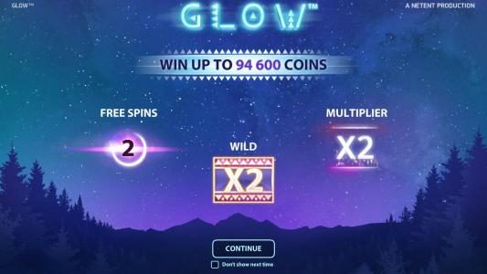 features include free spins, wilds and multipliers. Win up to 94,600 coins.