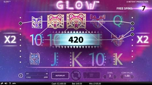 Yeti Casino featuring the Video Slots Glow with a maximum payout of $946,000