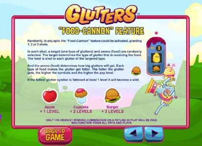 Casino Extra featuring the Video Slots Glutters with a maximum payout of $5,000