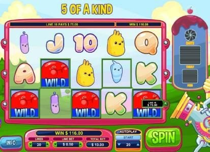 Diamond 7 featuring the Video Slots Glutters with a maximum payout of $5,000