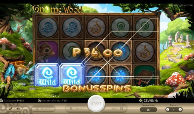 Play slots at Casino Luck: Casino Luck featuring the Video Slots Gnome Wood with a maximum payout of $1,000