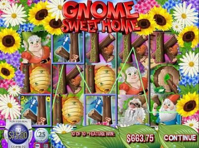 Desert Nights Rival featuring the Video Slots Gnome Sweet Home with a maximum payout of $12,500