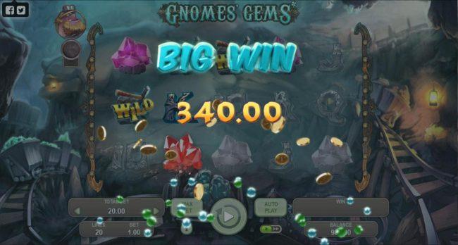 Gnomes Gems :: A 340 Big Win awarded