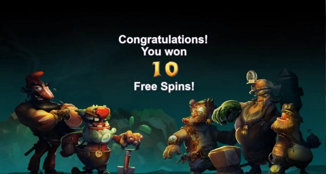 Gnomes Gems :: Ten free spins awarded