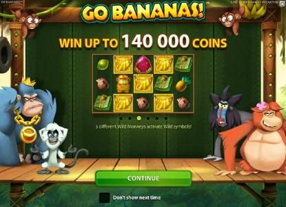 YouWin featuring the Video Slots Go Bananas with a maximum payout of $7,000