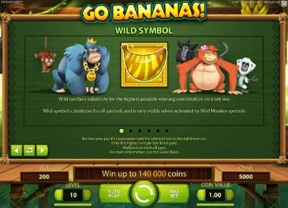 Sapphire Rooms featuring the Video Slots Go Bananas with a maximum payout of $7,000