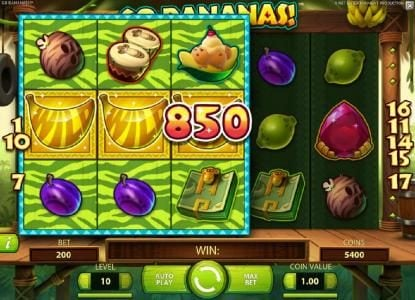 Play slots at Hyper Casino: Hyper Casino featuring the Video Slots Go Bananas with a maximum payout of $7,000