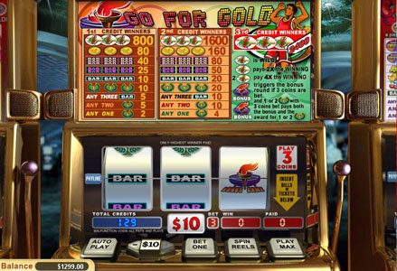 Lincoln featuring the Video Slots Go for Gold with a maximum payout of $24,000
