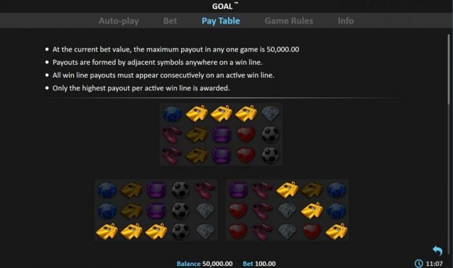 Goal! :: Maximum Win for this game is 50,000