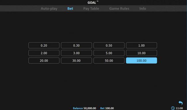 Goal! :: Betting Options