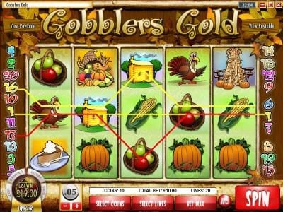 Paradise 8 featuring the Video Slots Gobbler's Gold with a maximum payout of $18,750