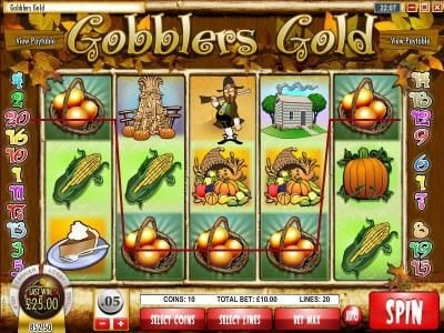 Play slots at Golden Lion: Golden Lion featuring the Video Slots Gobbler's Gold with a maximum payout of $18,750