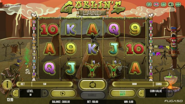 Magik Slots featuring the Video Slots Goblins Island with a maximum payout of $200,000