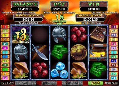 Cherry Jackpot featuring the Video Slots Goblin's Treasure with a maximum payout of $250,000