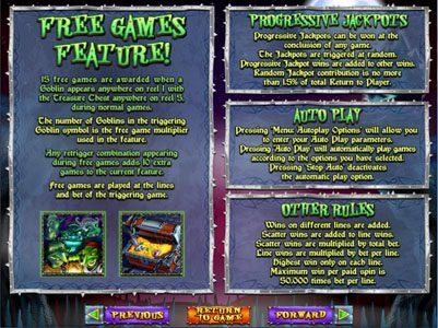 Play slots at Wild Joker: Wild Joker featuring the Video Slots Goblin's Treasure with a maximum payout of $250,000