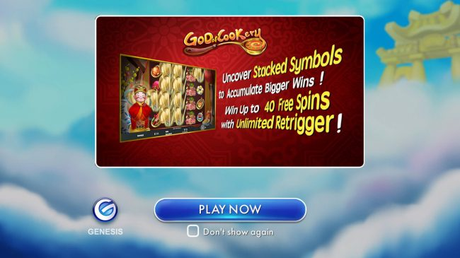 Jackpot Knights featuring the Video Slots God of Cookery with a maximum payout of $100,000