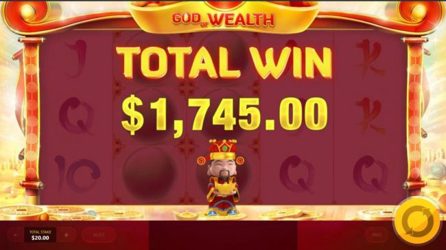 God of Wealth :: Total Free Spins payout 1,745.00