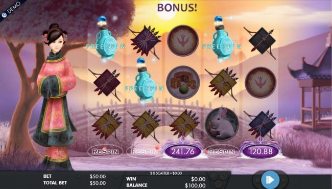 Slots Cafe featuring the Video Slots Goddess of the Moon with a maximum payout of $200,000