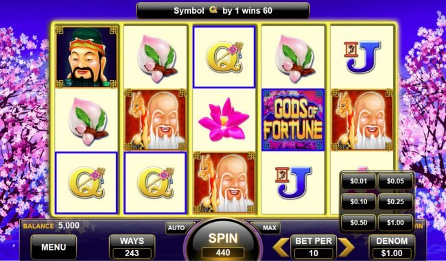 Gods of Fortune :: Betting Options