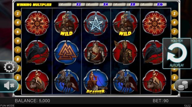 Play slots at Spintropolis: Spintropolis featuring the Video Slots Gods of Slots with a maximum payout of $40,000