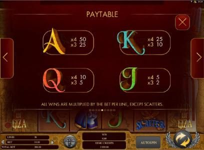 Casino Extra featuring the Video Slots Gods of Giza with a maximum payout of $2,500
