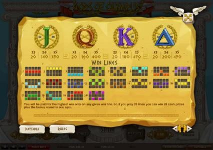 CKcasino featuring the Video Slots Gods of Olympus with a maximum payout of £22,500
