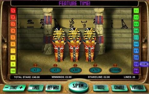 770Red featuring the Video Slots Gods of the Nile II with a maximum payout of $20,000