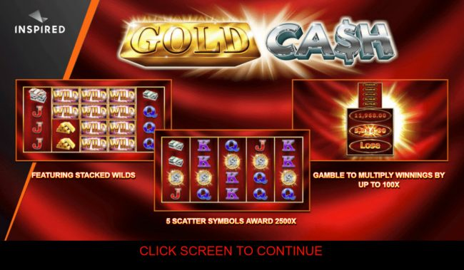 Play slots at Casino Club: Casino Club featuring the Video Slots Gold Cash with a maximum payout of $250,000