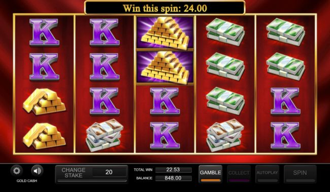 Play slots at Spinland: Spinland featuring the Video Slots Gold Cash with a maximum payout of $250,000
