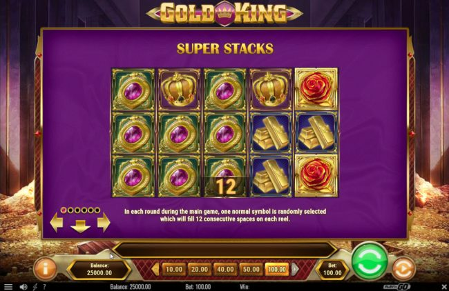 Omnia featuring the Video Slots Gold King with a maximum payout of $500,000
