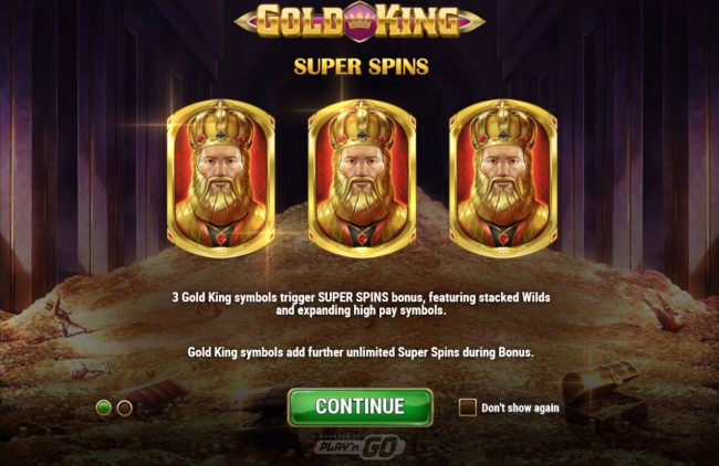 Joker Casino featuring the Video Slots Gold King with a maximum payout of $500,000