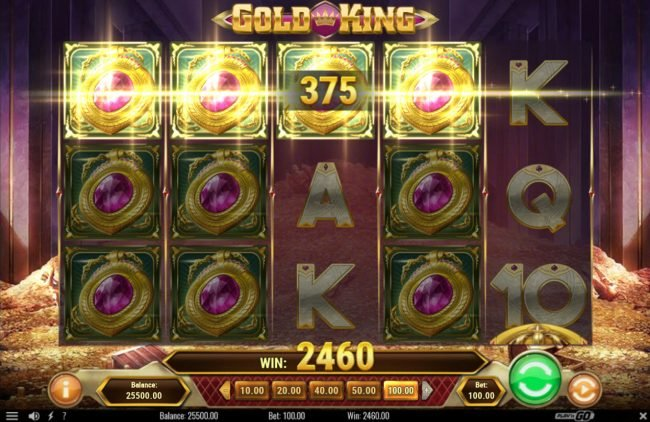 Jonny Jackpot featuring the Video Slots Gold King with a maximum payout of $500,000