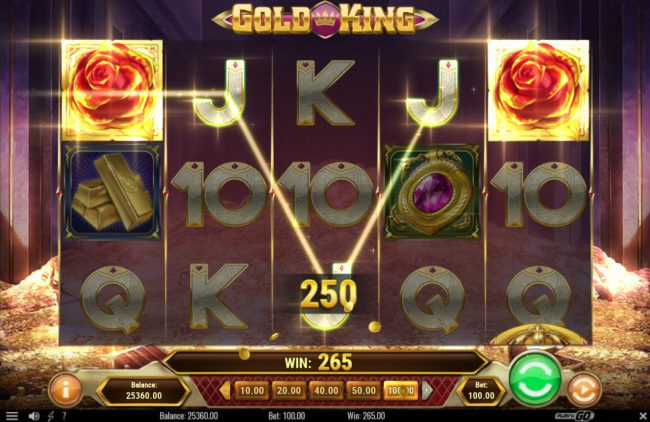 Unique Casino featuring the Video Slots Gold King with a maximum payout of $500,000