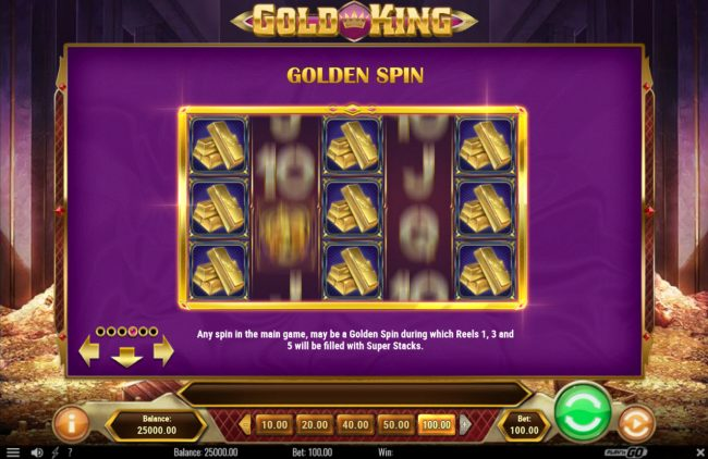 Shadowbet featuring the Video Slots Gold King with a maximum payout of $500,000