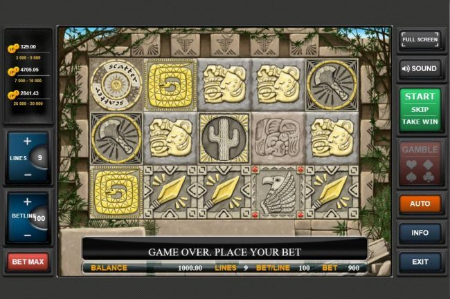 Gold of Maya :: Main Game Board